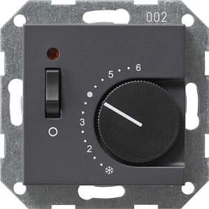 039228 Терморегулятор с размыкающим контактом. выключателем и контрольной лампой