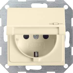 041401 Розетка c з/к, крышкой, с защитой от детей и пиктограммой