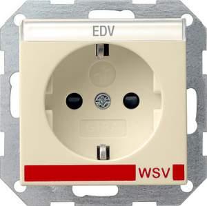 042101 Розетка с полем для надписи для WSV (дальнейшее обеспечение безопасности)