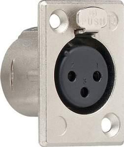 043600 Штепсельный разъем XLR (фланцевая розетка 3 контакта) D-серия