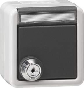 044930 Розетка с запирающейся на ключ крышкой IP44 (однотипные замыкания)