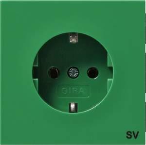 """0455119 Розетка с з/к зеленого цвета и маркировкой """"SV"""""""