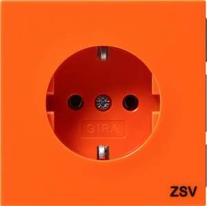 0456119 Розетка с зазем конт с надписью ZSV Розетки и выключатели/Gira/Gira F100 серия оранжевый