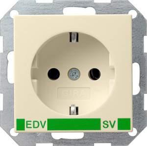 046301 Розет с зазем конт с надп EDV и SV (зелен)