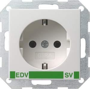 046303 Розет с зазем конт с надп EDV и SV (зелен)