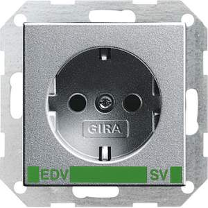 046326 Розет с зазем конт с надп EDV и SV (зелен)
