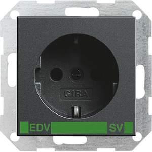 046328 Розет с зазем конт с надп EDV и SV (зелен)