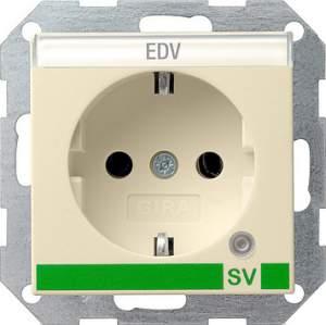 046801 Розетка с з/к и контрольной лампой и полем для надписи для SV (обеспечение безопасности)