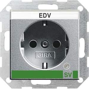 046826 Розетка с з/к и контрольной лампой и полем для надписи для SV (обеспечение безопасности)