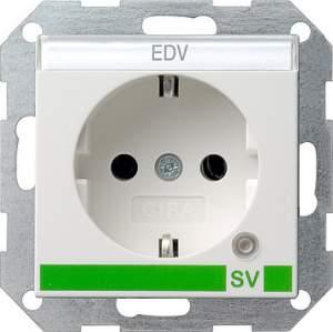 046827 Розетка с з/к и контрольной лампой и полем для надписи для SV (обеспечение безопасности)