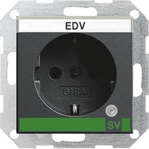 046828 Розетка с з/к и контрольной лампой и полем для надписи для SV (обеспечение безопасности)