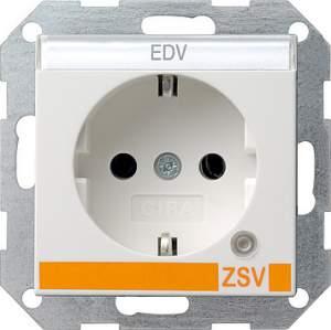 046927 Розетка с з/к и контрольной лампой и полем для надписи для ZSV (дополнительное обеспечение безопасно