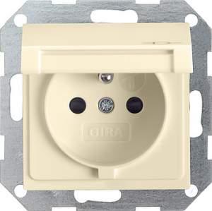 048801 Розетка с заземляющим штифтом. защитой от детей и крышкой