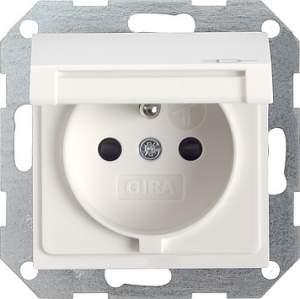 048803 Розетка с заземляющим штифтом. защитой от детей и крышкой