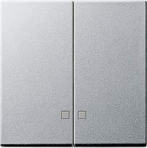 063126 Накладка двухклавишная с контрольными окнами