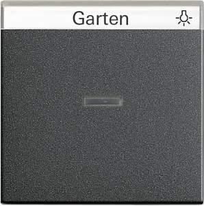067028 Одинарная клавиша с полем для надписи и подсветкой
