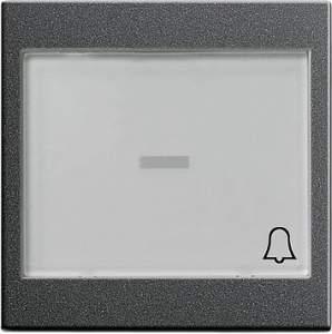 """067928 Клавиша с полем для надписи 37*47 мм и символом """"звонок"""""""
