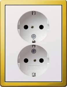 0780116 Двойная розетка с з/к с установочной рамкой