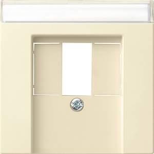 087601 Накладка телефонной розетки TAE+Стерео+USB с полем для надписи
