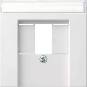 087603 Накладка телефонной розетки TAE+Стерео+USB с полем для надписи