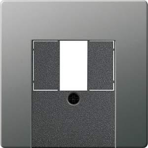 087620 Накладка телефонной розетки TAE+Стерео+USB с полем для надписи
