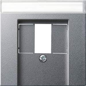 087626 Накладка телефонной розетки TAE+Стерео+USB с полем для надписи