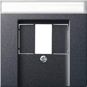 087628 Накладка телефонной розетки TAE+Стерео+USB с полем для надписи