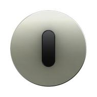 Berker 10012004 Накладка с ручкой для поворотных переключателей, Berker R.1, нержавеющая сталь цвет: черный серия  купить в Моск