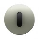 10012004 Накладка с ручкой для поворотных переключателей, Berker R.1, нержавеющая сталь цвет: черный