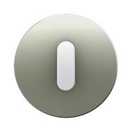 Berker 10012014 Накладка с ручкой для поворотных переключателей, Berker R.1, нержавеющая сталь цвет: полярная белизна серия  куп
