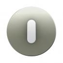 10012014 Накладка с ручкой для поворотных переключателей, Berker R.1, нержавеющая сталь цвет: полярная белизна