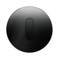 Berker 10012055 Накладка с ручкой для поворотных переключателей, Berker R.1, стекло цвет: черный серия  купить в Москве, цена в