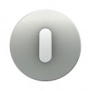 10012074 Накладка с ручкой для поворотных переключателей, Berker R.1, алюминий цвет: полярная белизна
