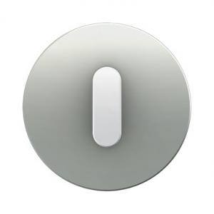 Berker 10012074 Накладка с ручкой для поворотных переключателей, Berker R.1, алюминий цвет: полярная белизна серия  купить в Мос
