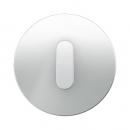 10012083 Накладка с ручкой для поворотных переключателей, Berker R.1, стекло цвет: полярная белизна