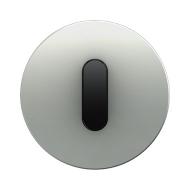 Berker 10012084 Накладка с ручкой для поворотных переключателей, Berker R.1, алюминий цвет: черный серия  купить в Москве, цена