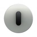 10012084 Накладка с ручкой для поворотных переключателей, Berker R.1, алюминий цвет: черный