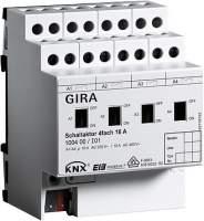 100400 Реле GIRA instabus knx-eib серия KNX/EIB, 4-канальное, с ручным управлением