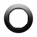 10112016 Рамка R.Classic, 1-местная, стекло, цвет: черный