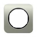 10112104 Рамка R.1, 1-местная, нержавеющая сталь цвет: черный