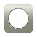 10112114 Рамка R.1, 1-местная, нержавеющая сталь цвет: полярная белизна