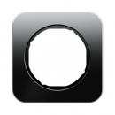 10112116 Рамка R.1, 1-местная, стекло, цвет: черный