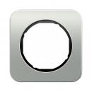 10112184 Рамка R.1, 1-местная, алюминий, цвет: черный
