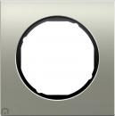 10112204 Рамка, R.3, 1-местная, нержавеющая сталь, цвет: черный (47,6)