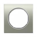 10112214 Рамка R.1, 1-местная, нержавеющая сталь цвет: полярная белизна