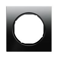 Berker 10112216 Рамка R.1, 2-местная, стекло, цвет: черный серия  купить в Москве, цена в России: опт, розница   smartipad.ru