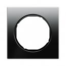 10112216 Рамка R.1, 1-местная, стекло, цвет: черный