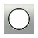 10112284 Рамка R.1, 1-местная, алюминий, цвет: черный