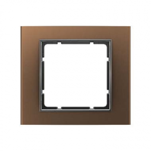 Berker 10113001 Рамкa, B.3, алюминий, цвет: коричневый/антрацитовый серия  купить в Москве, цена в России: опт, розница   smarti