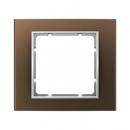 10113021 Рамкa, B.3, алюминий, цвет: коричневый/полярная белизна